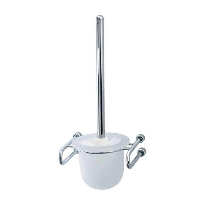 Triton Metlex Mercury Toilet Brush & Frosted Glass Holder - AME9010S Large Image