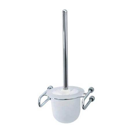 Triton Metlex Mercury Toilet Brush & Frosted Glass Holder - AME9010S