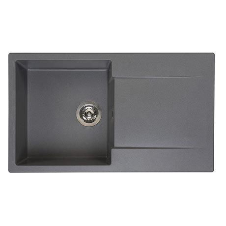 Reginox Amsterdam 10 1.0 Bowl Granite Kitchen Sink - Grey Silvery
