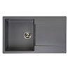 Reginox Amsterdam 10 1.0 Bowl Granite Kitchen Sink - Grey Silvery profile small image view 1