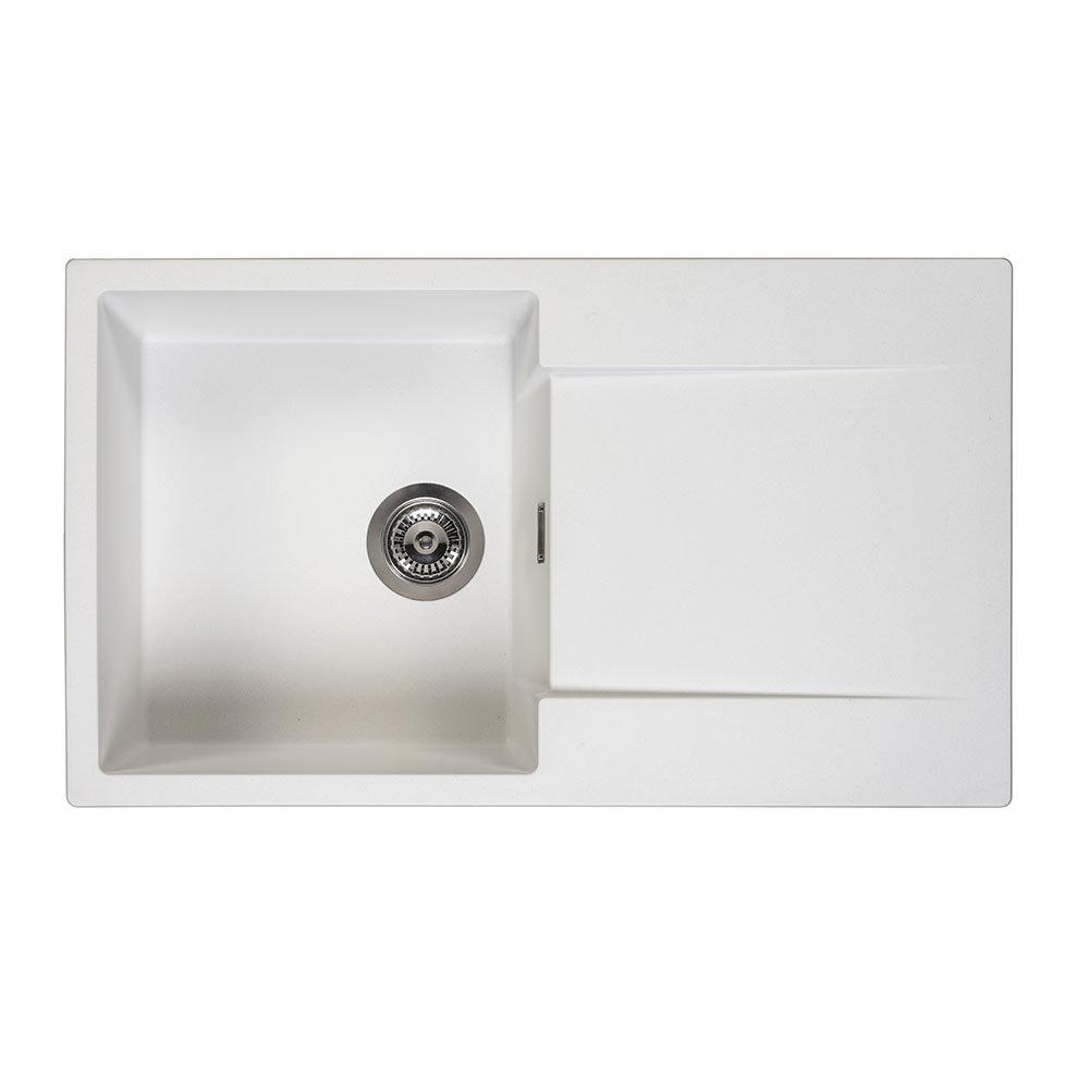 Reginox Amsterdam 10 1.0 Bowl Granite Kitchen Sink - Pure White