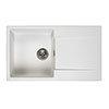 Reginox Amsterdam 10 1.0 Bowl Granite Kitchen Sink - Pure White profile small image view 1
