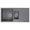 Reginox Amsterdam 15 1.5 Bowl Granite Kitchen Sink - Grey Silvery profile small image view 1