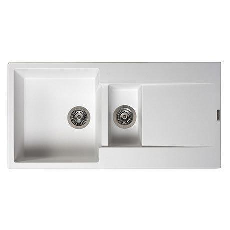 Reginox Amsterdam 15 1.5 Bowl Granite Kitchen Sink - Pure White