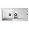 Reginox Amsterdam 15 1.5 Bowl Granite Kitchen Sink - Pure White profile small image view 1