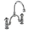 Burlington Anglesey Black 2TH Bridge Curved Spout Basin Mixer (230mm centers) profile small image view 1