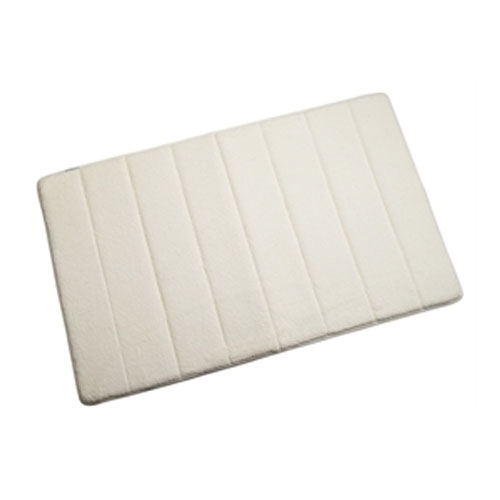 Croydex - Large Memory Foam Textile Bathroom Mat - 800 x 500mm - Cream - AN600210 profile large image view 1