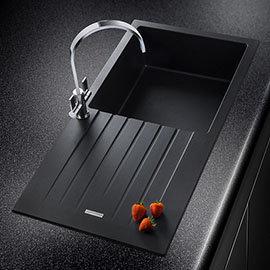 Rangemaster Andesite Ash Black 1.0 Bowl Igneous Granite Kitchen Sink