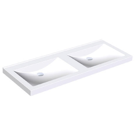 Franke Quadro ANMW420 1400mm Double Washbasin without Tapholes