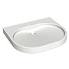 Franke ANMW501 650mm VariusCare wheelchair accessible washbasin profile small image view 1
