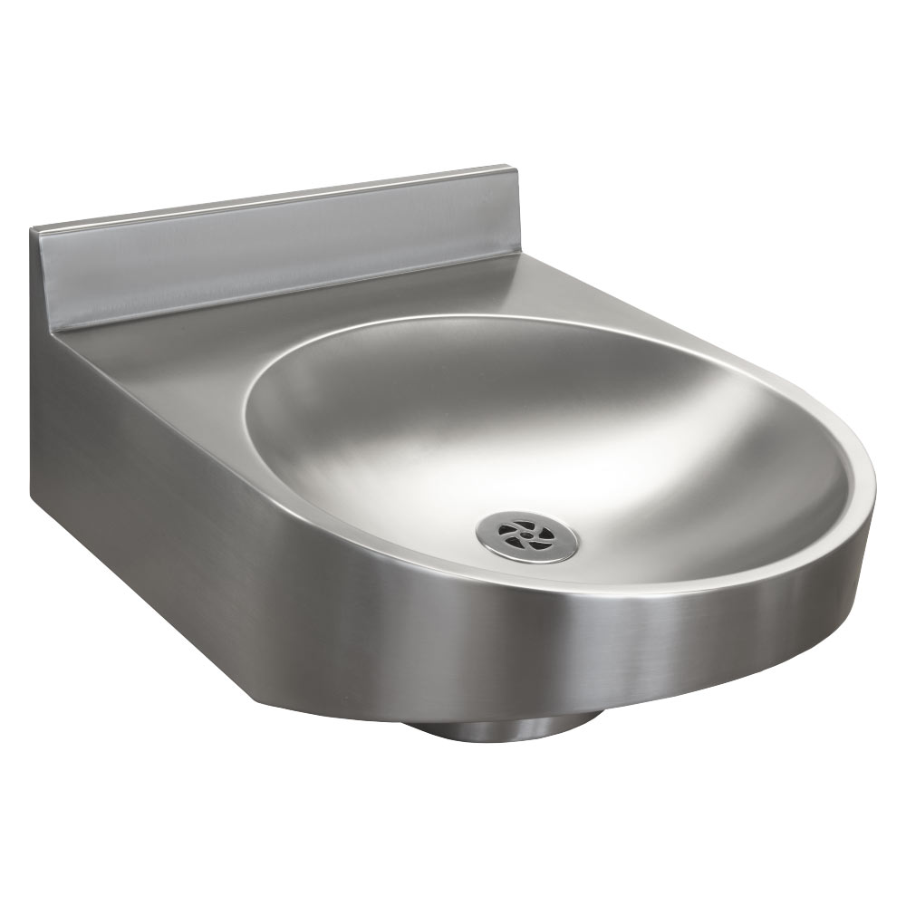 Franke ANMX020 Stainless Steel Round Disabled Washbasin with Upstand