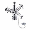 Burlington Anglesey Regent Black Basin Mixer with Plug & Chain Waste profile small image view 1