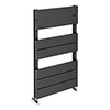 Quebec Aluminium Anthracite 850 x 500mm Vertical Radiator - 7 Sections profile small image view 1