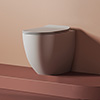 Anzio Back To Wall Toilet with Slimline Soft Close Seat profile small image view 1