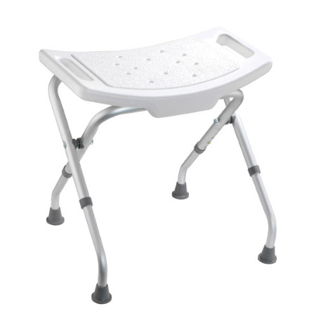 Croydex White Adjustable Bathroom & Shower Seat - AP100122 profile large image view 1
