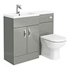 Apollo2 1100mm Gloss Grey Combination Furniture Pack (Excludes Pan + Cistern) profile small image view 1