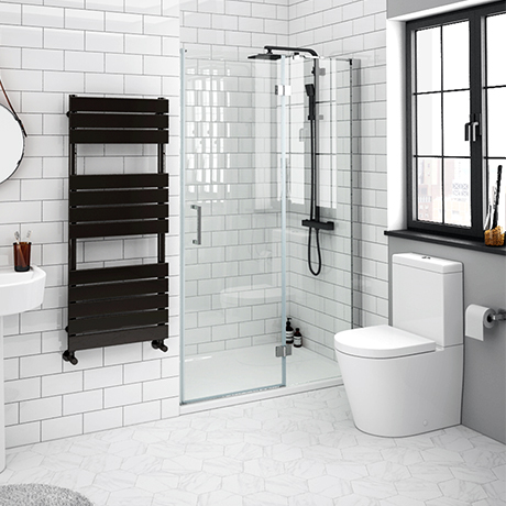 Apollo 1200mm Frameless Hinged Shower Door