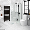 Apollo 1200mm Frameless Hinged Shower Door profile small image view 1