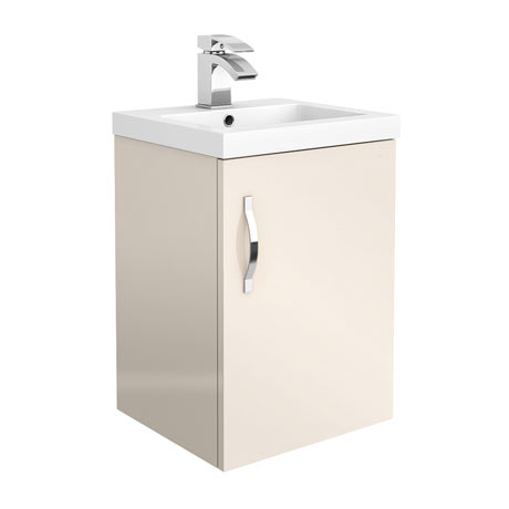 Apollo2 405mm Gloss Cashmere Wall Hung Vanity Unit