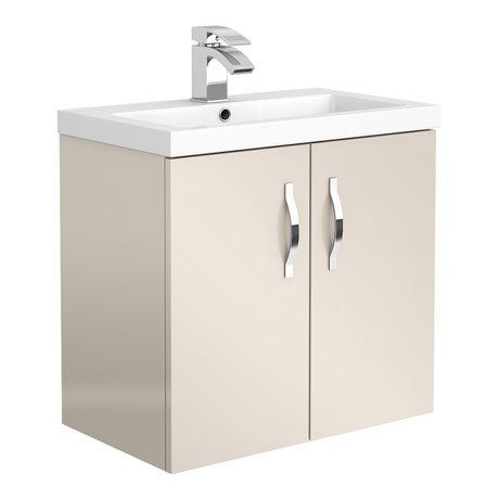 Apollo2 605mm Gloss Cashmere Wall Hung Vanity Unit