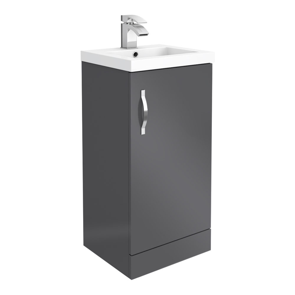 Apollo2 405mm Gloss Grey Floor Standing Vanity Unit