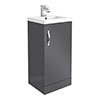 Apollo2 405mm Gloss Grey Floor Standing Vanity Unit profile small image view 1