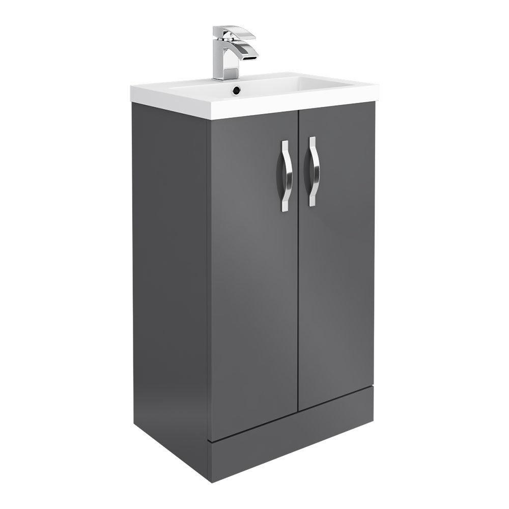 Apollo2 505mm Gloss Grey Floor Standing Vanity Unit