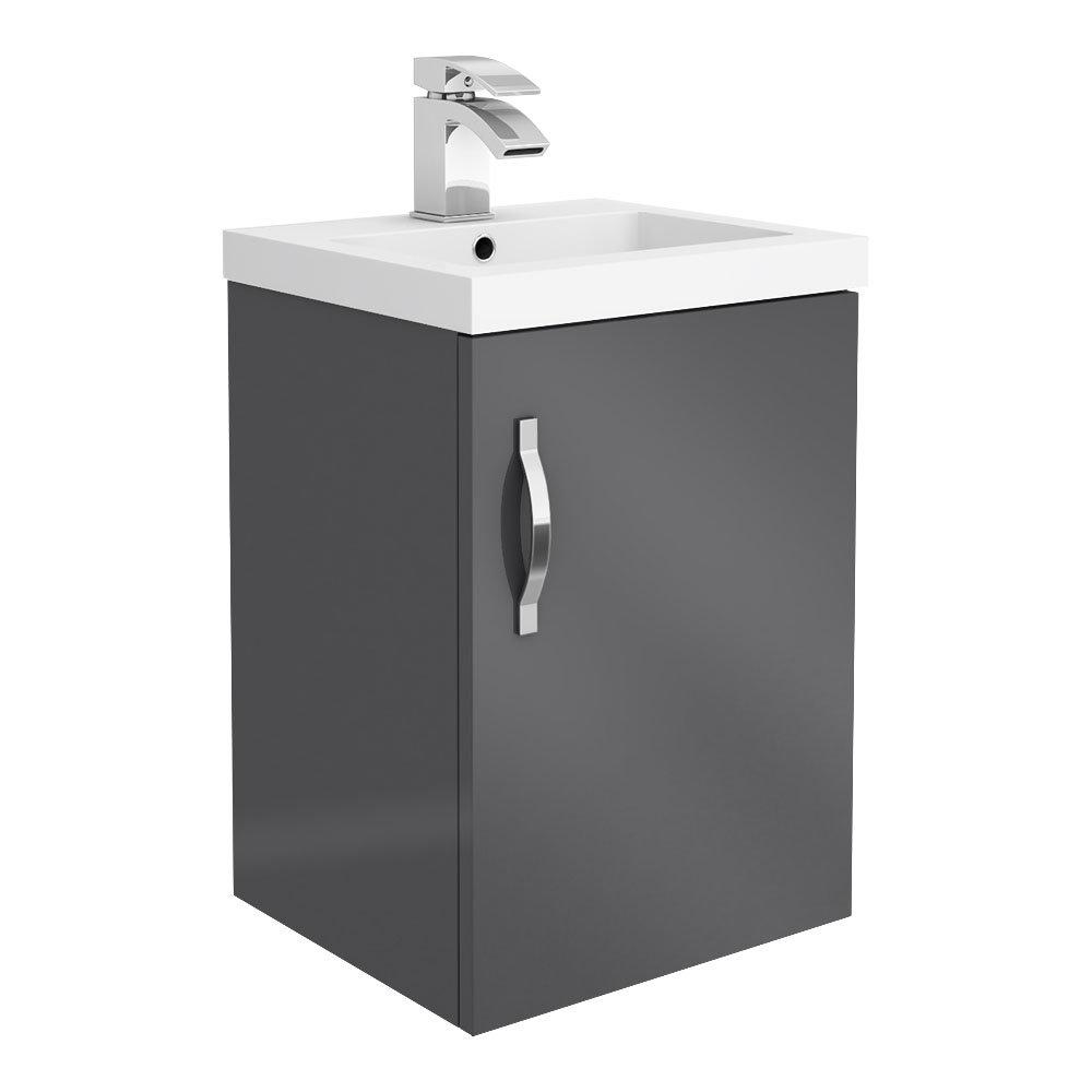 Apollo2 405mm Gloss Grey Wall Hung Vanity Unit
