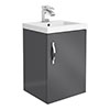 Apollo2 405mm Gloss Grey Wall Hung Vanity Unit profile small image view 1