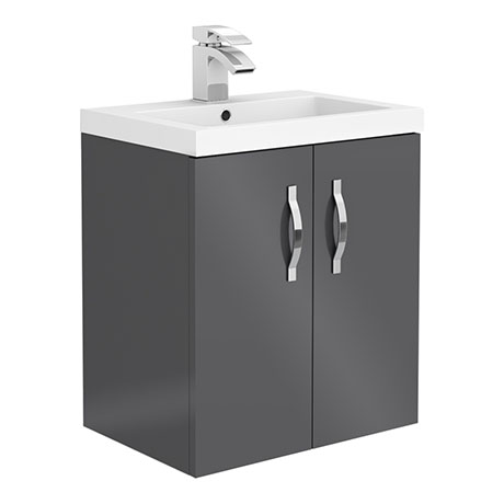 Apollo2 505mm Gloss Grey Wall Hung Vanity Unit