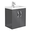 Apollo2 505mm Gloss Grey Wall Hung Vanity Unit profile small image view 1
