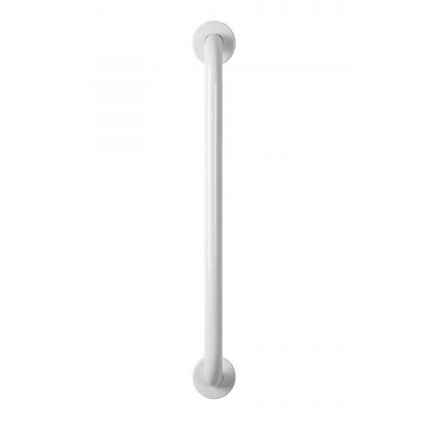 Croydex 600mm Stainless Steel White Straight Grab Bar - AP501222