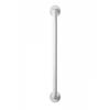 Croydex 600mm Stainless Steel White Straight Grab Bar - AP501222 Small Image