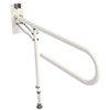Croydex White Fold Away Hand Rail with Drop Down Leg - AP502922 profile small image view 1