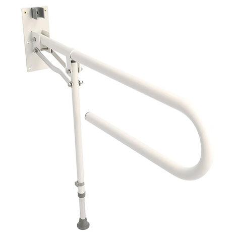 Croydex White Fold Away Hand Rail with Drop Down Leg - AP502922