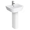 Apollo Basin with Full Pedestal (530mm Wide - 1 Tap Hole) profile small image view 1