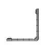 Croydex Grab N Grip L-Shaped 480mm Rail Grab Bar - Chrome - AP531041 profile small image view 1