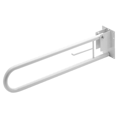 Croydex White Fold Down Bathroom Support Bar Large Image