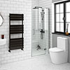 Apollo 900mm Frameless Hinged Shower Door profile small image view 1