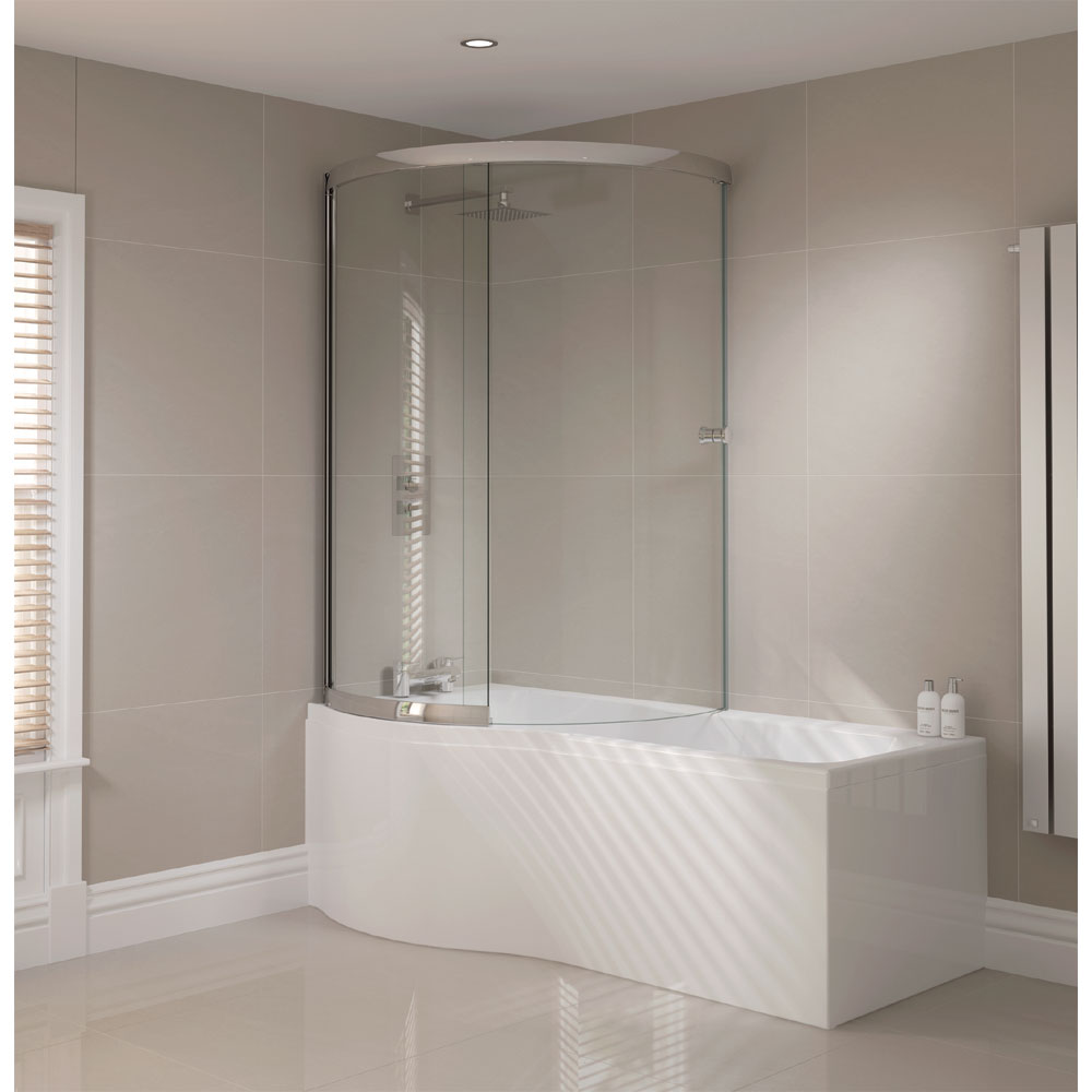 April P Shape Sliding Bath Screen - Left or Right Hand Option Feature Large Image