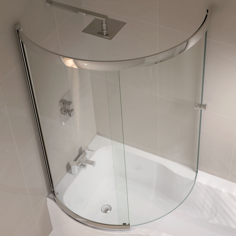 april p shape sliding bath screen left or right hand bath shower screens fixed hinged sliding victorian