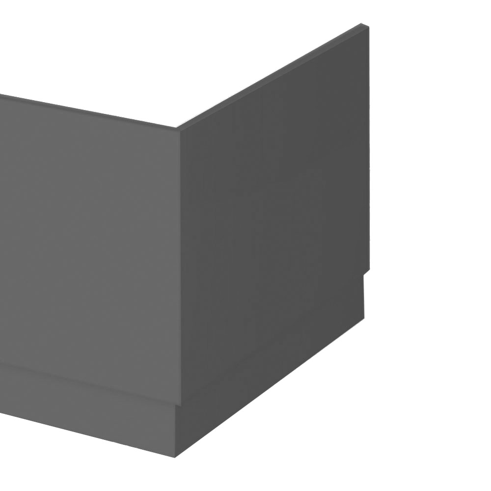 Apollo2 Gloss Grey 700 End Straight Bath Panel