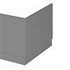 Apollo2 Gloss Grey 700 End Straight Bath Panel profile small image view 1