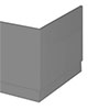 Apollo2 Gloss Grey 750 End Straight Bath Panel profile small image view 1