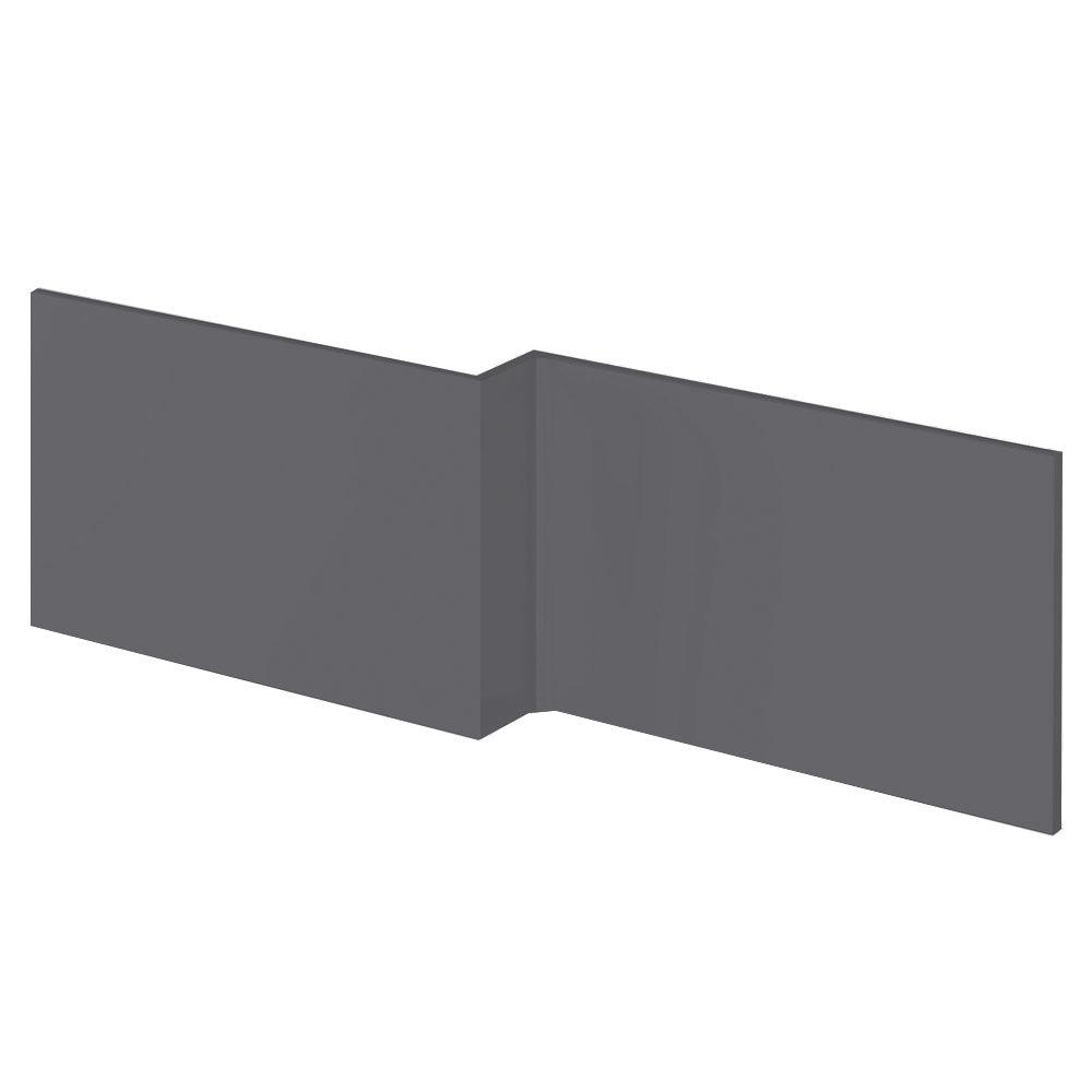 Apollo2 Gloss Grey 1700 Square Shower Bath Front Panel