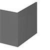 Apollo2 Gloss Grey 700 L-Shaped Square Shower Bath End Panel profile small image view 1