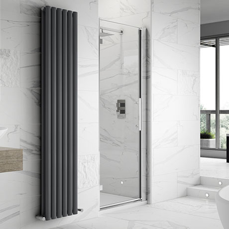 Hudson Reed Apex Hinged Shower Door Only - Various Size Options