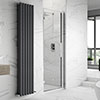 Hudson Reed Apex Hinged Shower Door Only - Various Size Options profile small image view 1