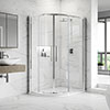 Hudson Reed Apex Offset Quadrant Shower Enclosure - Various Size Options profile small image view 1