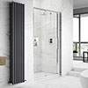Hudson Reed Apex Sliding Shower Door Only - Various Size Options profile small image view 1